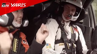 WRC 現地レポーターGAZOO Lady杉山愛奈 ヤリスWRC同乗体験