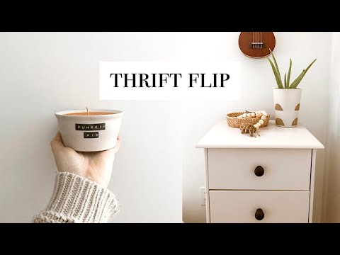 Thrift Flip - dresser makeover, target inspired decor, pumpkin candle