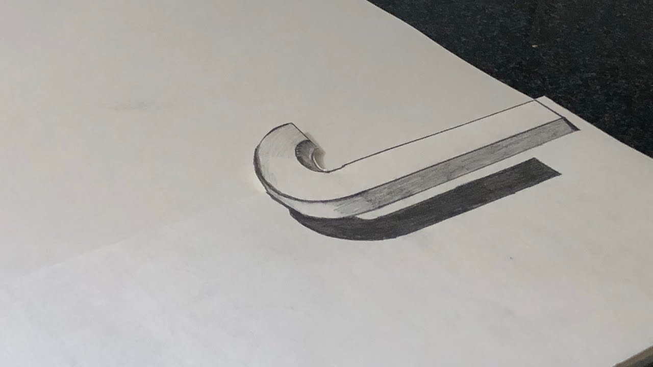 how to draw a 3d j