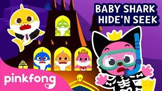 Halloween Hide'n Seek with Baby Shark Family | Halloween Songs | Pinkfong Songs for Children