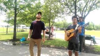 Mike Posner sings Sugar by Maroon 5 acoustic