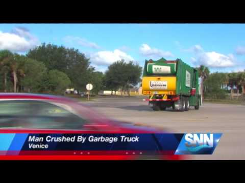 Thumbnail: SNN:Man Crushed By Garbage Truck In Venice