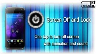 Screen Off - Apaga la pantalla sin usar el botón power | Aplicaciones Android | Just Unboxing