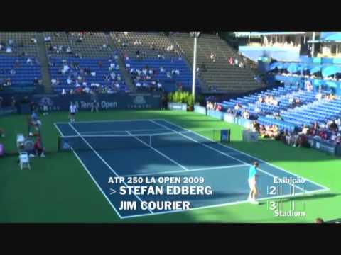 Stefan Edberg vs Jim Courier - Los Angeles 2009 (2 de 8)