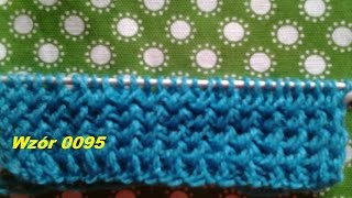 Wzór 0095*ściągacz *Robótki  na drutach *Dzierganie dla początkujących*Tutorial