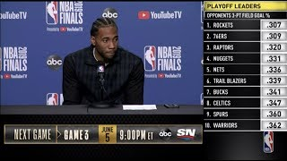 Kawhi Leonard Press Conference | NBA Finals Game 2