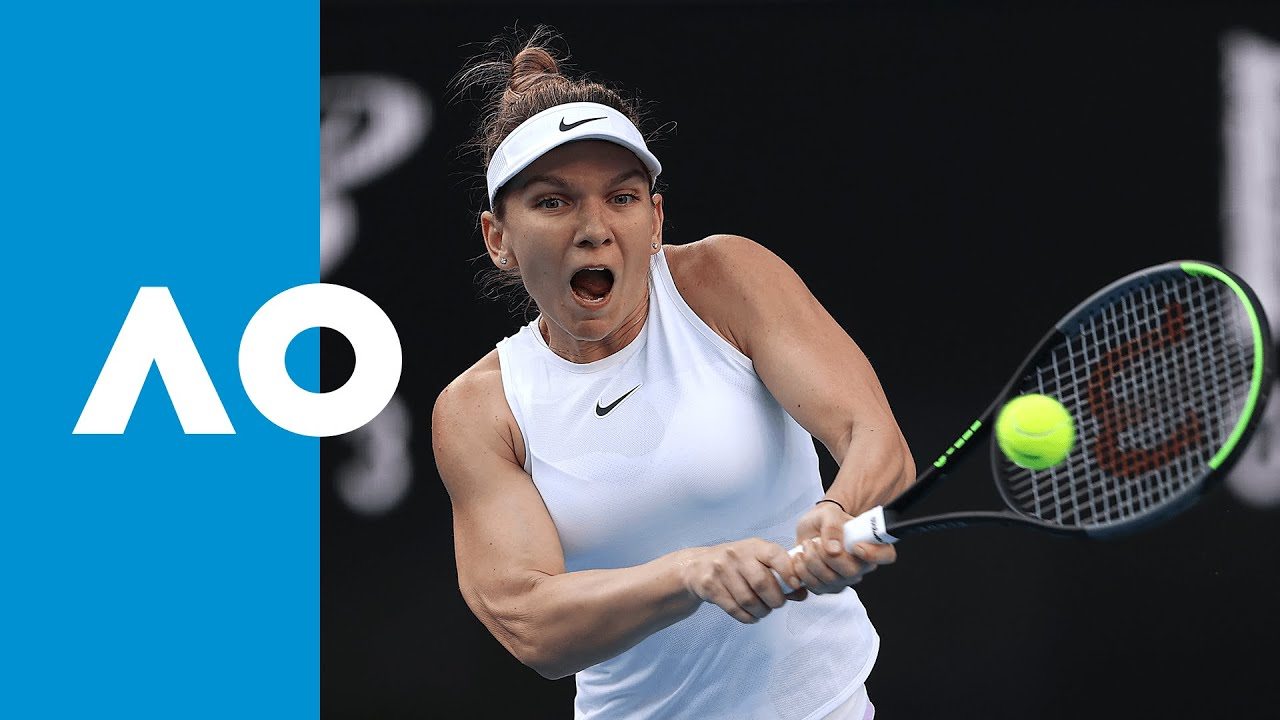 Jennifer Brady V Simona Halep Match Highlights 1r Australian Open 2020