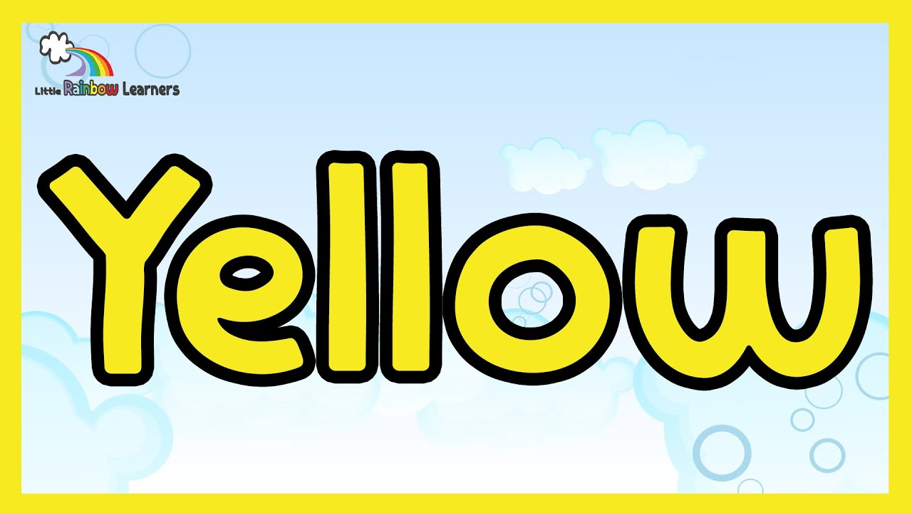 Yellow Video For Kids The Color Yellow Yellow For Kids