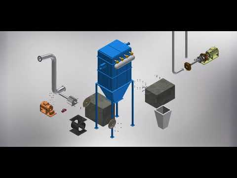 3d Model Animation – Dust Collector Assemble