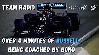 Over 4 Minutes Of Bono Coaching George Russell Team Radio 2020 Sakhir GP | UNHEARD Team Radio