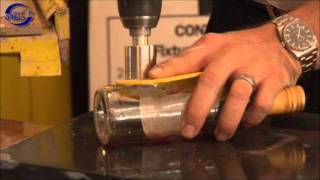 How to drill glass.  Drilling glass bottles, vases, glass windows.