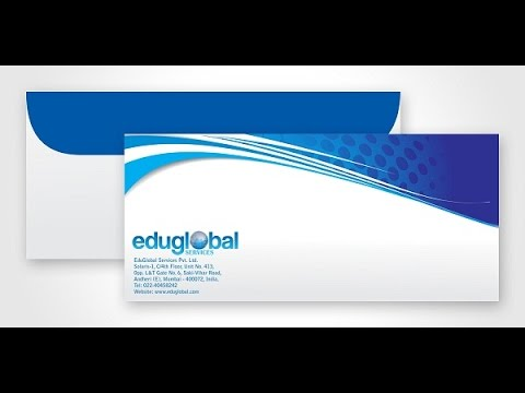 How to Design a professional Envelope for Letterhead Using Adobe - letterhead and envelope design