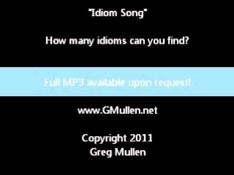 Idiom Song Sample Studio Version Youtube