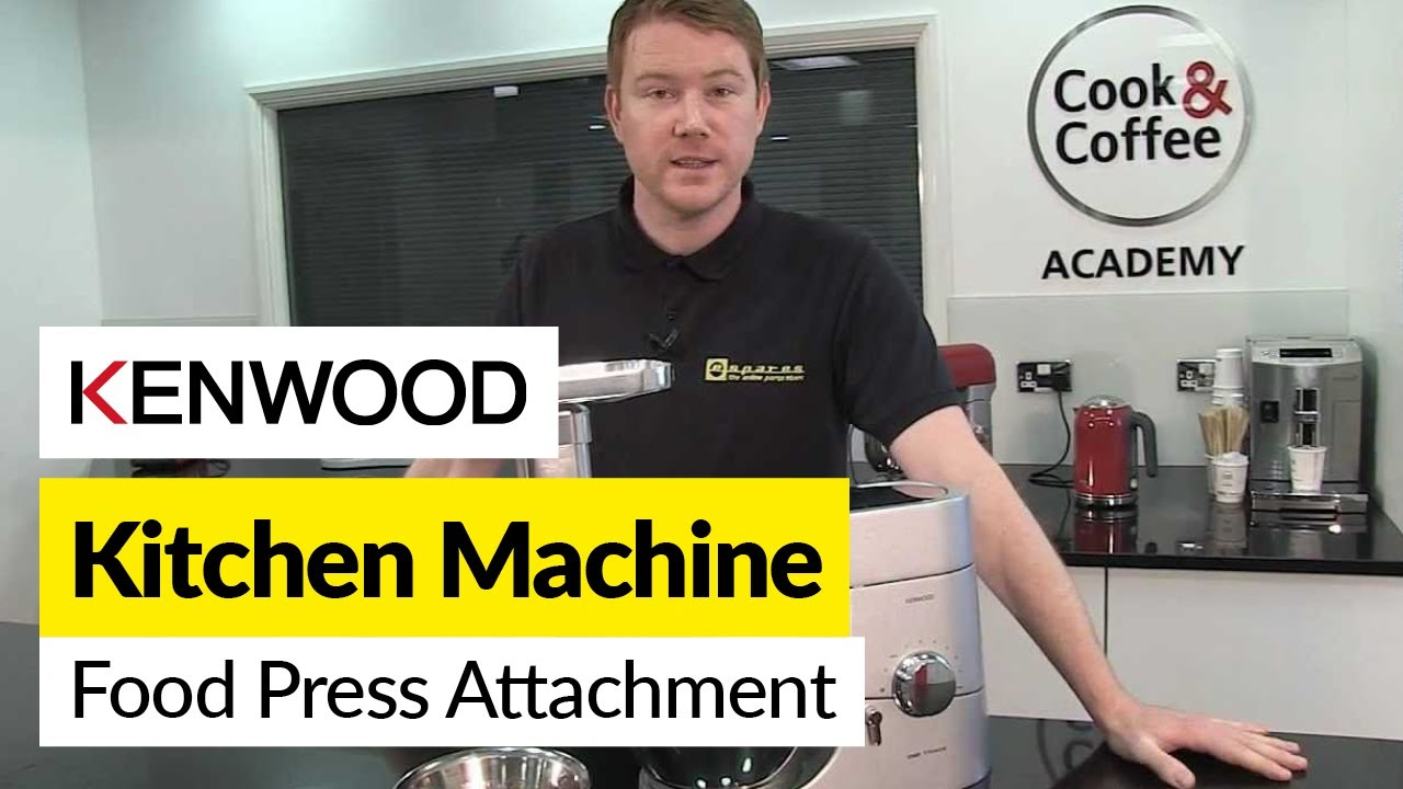 How to use a food press attachment Kenwood  YouTube ~ Entsafter Presse