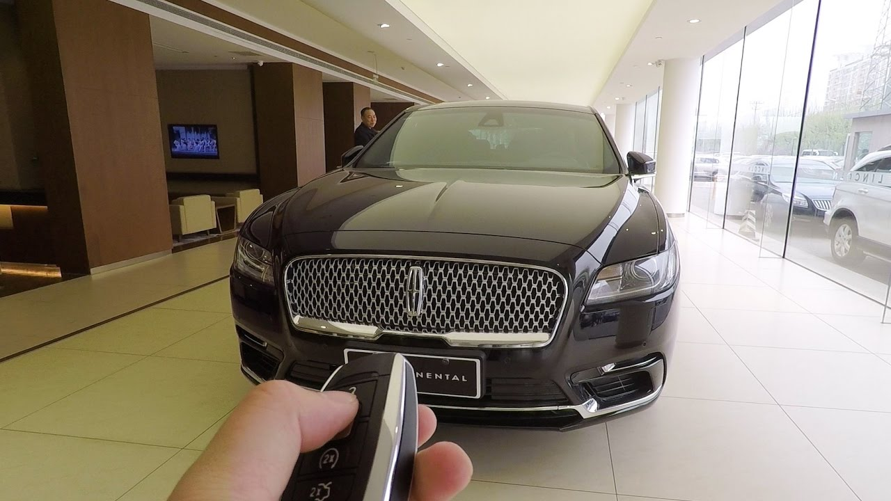 2017 Lincoln Continental Car Key Look Youtube