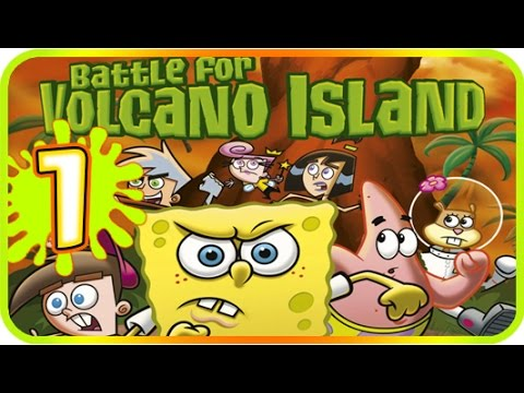 Nicktoons: Battle for Volcano Island Walkthrough Part 1 (PS2, Gamecube) 100% Level 1 Summoner's Rock