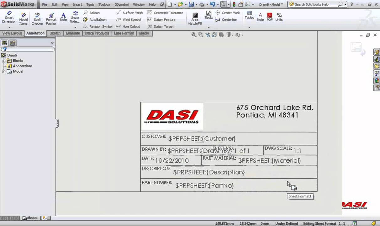 dwg title block templates - solidworks title blocks in 10 minutes 123vid