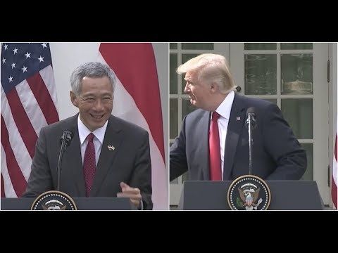 Singapore Prime Minister STUNS President Trump at Joint Press Conference