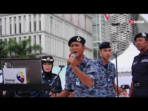 Terbeliak Biji Mata bila Abang tentera nyanyi Lagu Malaysia Faizal Tahir