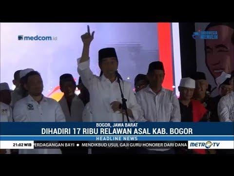 17 Ribu Relawan di Bogor Deklarasi Dukung Jokowi-Maruf