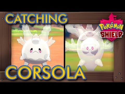 Pokémon Sword & Shield - How to Catch Corsola &  Evolve it into Cursola
