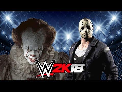 JASON VOORHEES vs PENNYWISE!   WWE 2K18 Gameplay