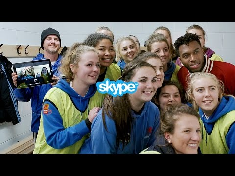 Skype and Liverpool FC's Daniel Sturridge bring the whole team together with group video calling