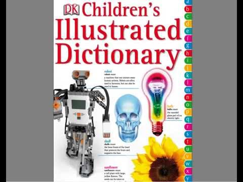 Children's illustrated Dictionary Book