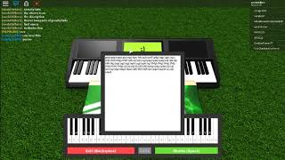 Gravity falls Theme song piano sheet on roblox music 1 and music 2