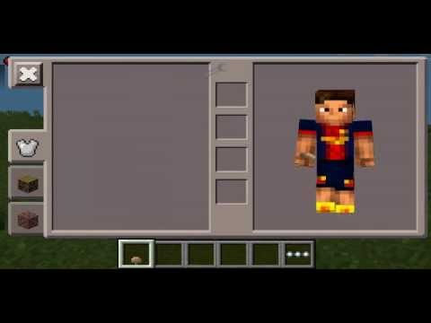 Minecraft PE Lionel Messi Costume Skin YouTube - Skin para minecraft pe de messi