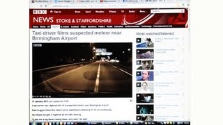 Meteor - Meteorite - Space Debris ? over UK with Commentary by PD from BBC Radio