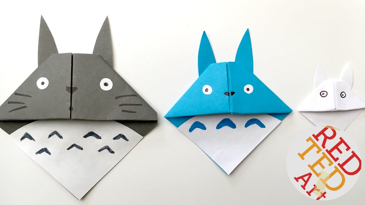 Papercraft Easy Totoro Bookmark - Origami - Paper Crafts