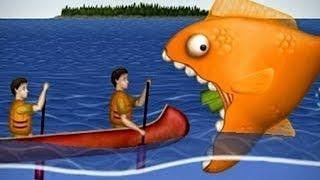 Приключение маленькой ГОЛОДНОЙ РЫБЫ Съешь все подряд 2 Веселая игра СЪЕСТЬ ОКЕАН мультик для детей