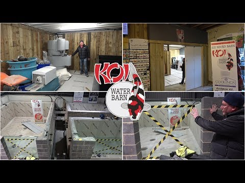 Visit to Koi Water Barn under construction at Coolings - 17th January 2019