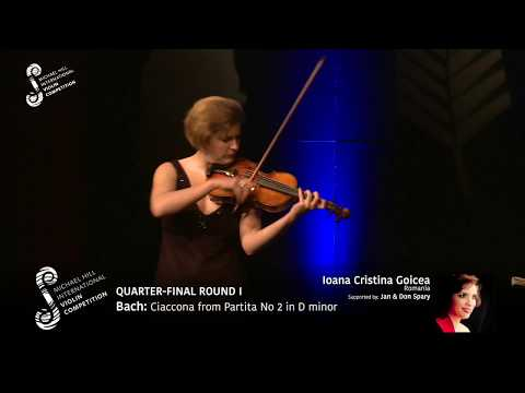 2017 Round #1 Competitor #9 I C Goicea | Bach: Ciaccona from Partita No 2 in D minor