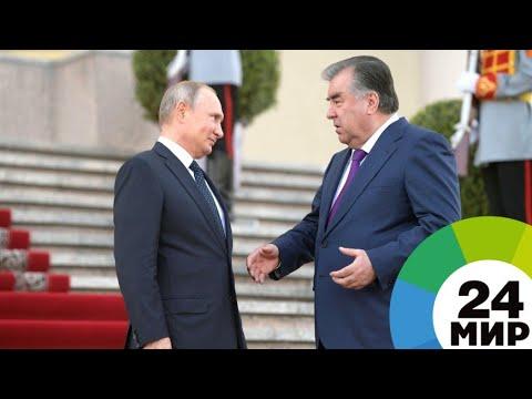 Смотреть Путин отметил успешное развитие отношений с Таджикистаном - МИР 24 онлайн