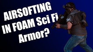 Airsofting in Cosplay Armor? (Sci Fi Inspired Load Out Plus Gameplay)