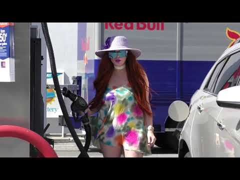 Phoebe Price turns pumping gas into Fashion   Subscribe