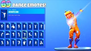 69 DANCE EMOTES with NEW! BEEF BOSS SKIN! Fortnite Battle Royale