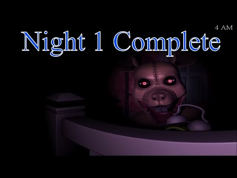 FNaC 3 Demo - Night 1 Complete