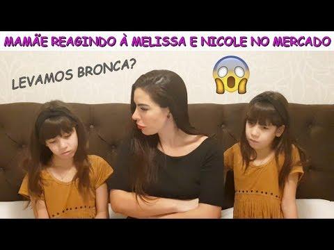 MAMÃE REAGINDO À MELISSA E NICOLE NO MERCADO