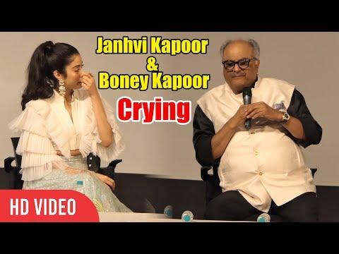 Janhvi Kapoor & Boney Kapoor Emotional Tears 😭😭 While Talking On Sridevi