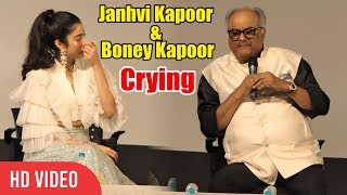 Janhvi Kapoor & Boney Kapoor Emotional Tears 😭😭 While Talking On Sridevi