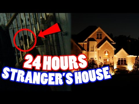 (PRANKED OWNER) 24 HOUR OVERNIGHT CHALLENGE AT A STRANGER'S HOUSE! SNEAKING INTO A STRANGER'S HOUSE!
