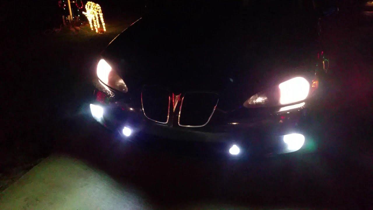 Pontiac Grand Prix GXP  Converting H11 Fog Lamps to LED 2000