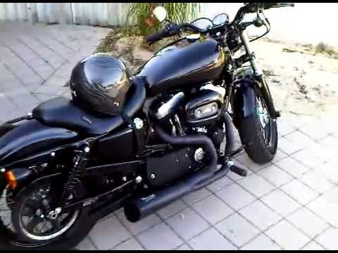 48 harley sportster vance hines comp series pipes tank youtube. Black Bedroom Furniture Sets. Home Design Ideas