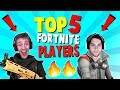 TOP 5 BEST Fortnite Players (Fortnite Battle Royale) | Ranking Ninja, Dakotaz, and MORE