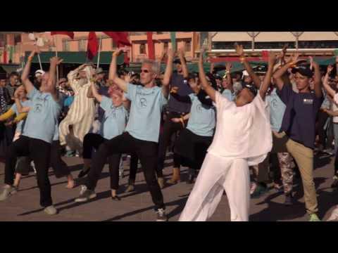 COP 22 - Flashmob footage to promote 100% Renewable Future