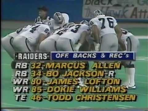 MNF 1987 -Raiders vs. Seahawks (Pt 1)