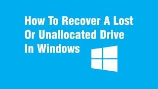 how to recover a lost or unallocated drive, كيفية استعادة الأقراص المفقودة أو غير المخصصة